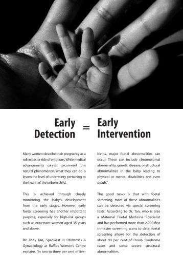 Early Detection Early Intervention = - Raffles Medical Group