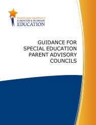 Guidance for Special Education Parent Advisory Councils