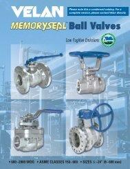 Velan Memoryseal Ball Valves Catalog - Meridian, a Wolseley ...