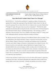 Pope John Paul II Catholic School Names New Principal