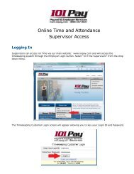 Online Time and Attendance Supervisor Access