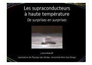 Les supraconducteurs à haute température