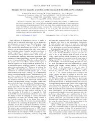 Interplay between magnetic properties and thermoelectricity in misfit ...