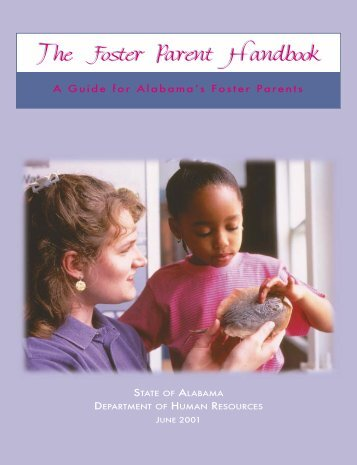 Foster Parent Handbook - Alabama Department of Human Resources