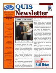 Newsletter - Fall 2011 - Quinte United Immigrant Services