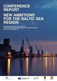 CONFERENCE REPORT NEW AMBITIONS FOR THE BALTIC SEA REGION - Baltic ...
