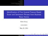 Identification of Fine Grained Feature Based Event and Sentiment ...