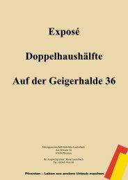 Exposé Doppelhaushälfte Auf der Geigerhalde 36 - Immobilien.de