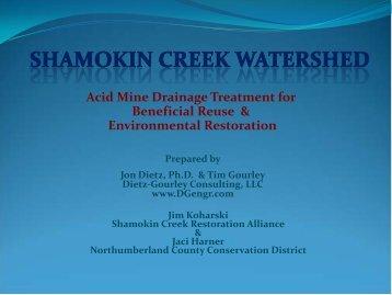 "John Dietz, Dietz-Gourley Consulting, LLC, ""Shamokin Creek Study ..."
