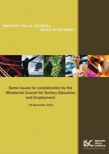 industry skills councils - AWPA