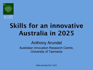 Australian Innovation Research Centre - AWPA