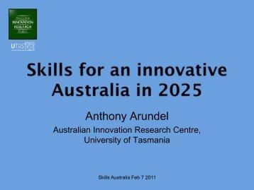 Australian Innovation Research Centre - AWPA