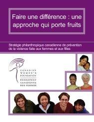 Une stratégie philanthropique canadienne - Canadian Women's ...