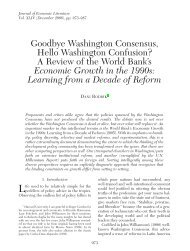 Goodbye Washington Consensus, Hello Washington Confusion? A ...