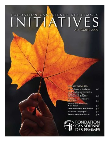 Automne 2009 (PDF) - Canadian Women's Foundation