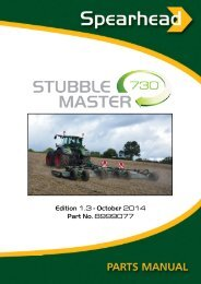 Stubble Master 730 - Spearhead Machinery Ltd