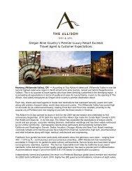 Oregon Wine Country's Premier Luxury Resort ... - Allison Inn & Spa