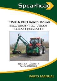 8999050 TWIGA PRO PARTS MANUAL - Ed 3.2 - Spearhead ...