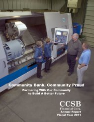 2011 Annual Report - Clay County Savings Bank
