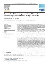 The benefits of introducing electronic health records in residential ...