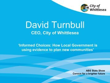 Whittlesea Presentation 15 Nov 2012.pdf - National Statistical Service