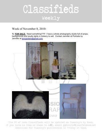Week of November 8, 2010: - Professional Photographers of Iowa