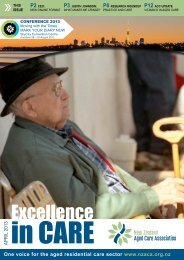 Excellence - New Zealand Aged Care Association