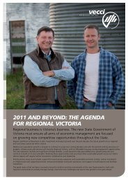 VECCI's 2011 Regional Policy Paper