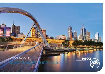 State Budget Submission 2011/ 2012 - Vecci