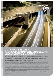 VECCI's 2011 Infrastructure and Liveability Policy Paper