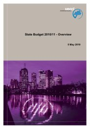 Download the full VECCI State Budget overview and analysis ...