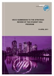 Strategic review of the student visa program - Vecci