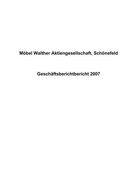 Möbel Walther Aktiengesellschaft Gründau Lieblos