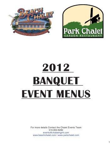 2012 banquet event menus - Beach Chalet Brewery & Restaurant