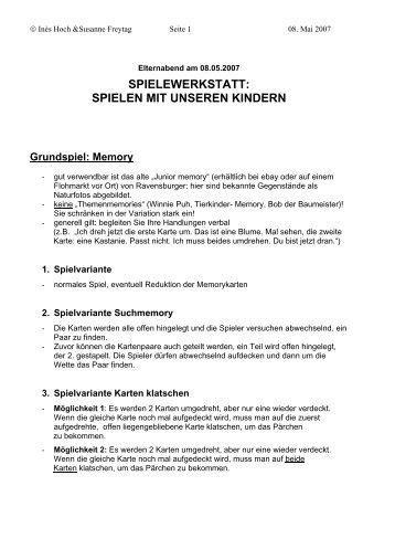 SPIELEN MIT UNSEREN KINDERN Grundspiel - Elternbeirat am BZ ...
