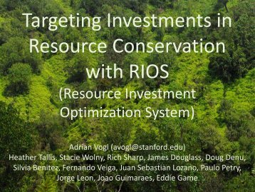 RIOS Overview - Natural Capital Project