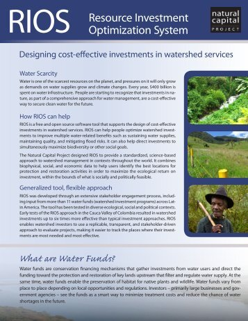 Download the Brochure - Natural Capital Project