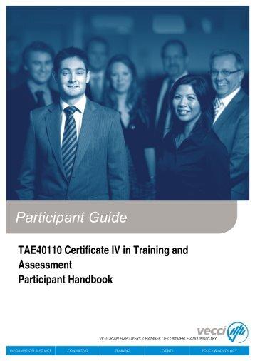 Cert IV_TAE_ Participant_Handbook_v3.0_Jan2012.pdf - Vecci