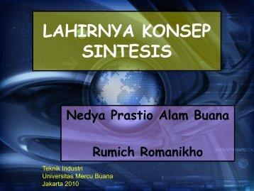LAHIRNYA KONSEP SINTESIS - Atep Afia - Universitas Mercu Buana