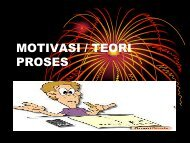 MOTIVASI / TEORI PROSES