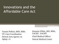 ACA Innovations - Pollum-White - Area Agencies on Aging