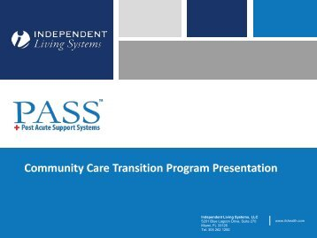 Community Care Transition Program Presentation - Area Agencies ...