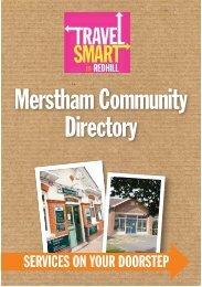 Merstham Community Directory (PDF document [684.2Kb])