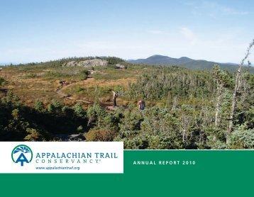 Annual_Report_2010 - Appalachian Trail Conservancy