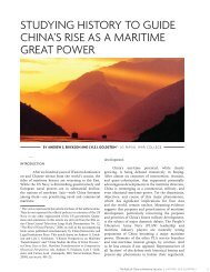 Studying History to Guide China's Rise as a Maritime Great Power