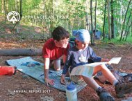 AnnuAl RepoRt 2011 - Appalachian Trail Conservancy