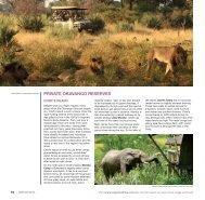 brochure section including Chitabe Camp - Expert Africa