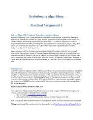 Evolutionary Algorithms Practical Assignment 1 - Liacs