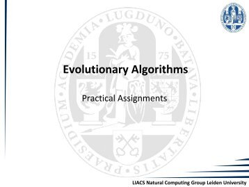 Practical Assignment 1 - Natural Computing Group, LIACS, Leiden ...