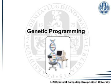 Genetic Programming - Natural Computing Group, LIACS, Leiden ...